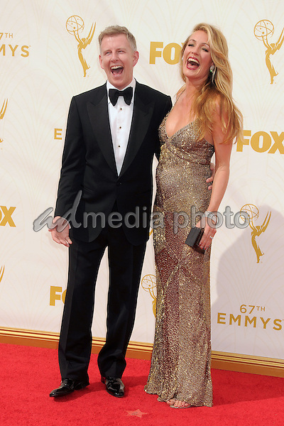 20 September 2015 - Los Angeles, California - Patrick Kielty, Cat Deeley. 67th Annual Primetime Emmy Awards - Arrivals held at Microsoft Theater. Photo Credit: Byron Purvis/AdMedia