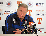 Ally McCoist during his pre match press conference