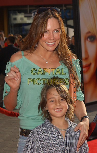 KRISTA ALLEN & SON JAKE.The New Line Cinema's World Premiere of Raise Your Voice held at The Loews Universal City 18 Theatres in Universal City, California .October 3, 2004.half length, mother, family, hand on shoulder, sunglasses, on head.www.capitalpictures.com.sales@captialpictures.com.Copyright 2004 by Debbie VanStory