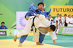 (L to R) Takeshi Ojitani (JPN), Kim Sung-Min (KOR), .April 21, 2013 - Judo : .Asian Judo Championships 2013, Men's Team Competition Final .at Bangkok Youth Centre, Bangkok, Thailand. .(Photo by Daiju Kitamura/AFLO SPORT) [1045]