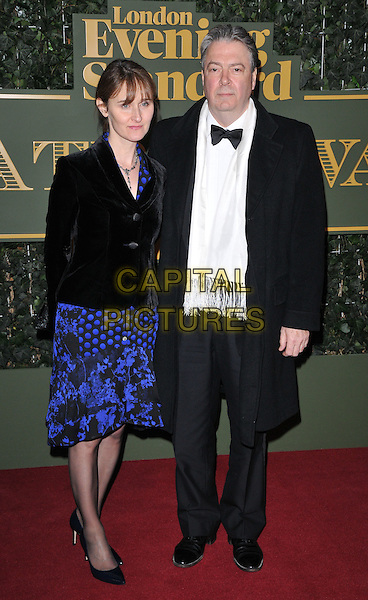 Rebecca Saire &amp; Roger Allam attend the London Evening Standard Theatre Awards 2015, The Old Vic, The Cut, London, England, UK, on Sunday 22 November 2015.<br /> CAP/CAN<br /> &copy;CAN/Capital Pictures