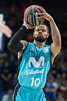 Movistar Estudiantes Omar Cook during Liga Endesa match between Movistar Estudiantes and Unicaja Malaga at Wizink Center in Madrid , Spain. March 04, 2018. (ALTERPHOTOS/Borja B.Hojas) /NortePhoto.com NORTEPHOTOMEXICO