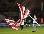 Ball boys wave flags before kickoff during the English Football League One match at Bramall Lane, Sheffield. Picture date: November 22nd, 2016. Pic Jamie Tyerman/Sportimage