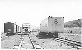 Geese #3 and #5 on an south and northbound meet.<br /> RGS  Dallas Divide, CO  8/1940