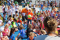 Netherlands, Rosmalen , June 10, 2015, Tennis, Topshelf Open, Autotron, Kidsday, Kids press conference<br /> Photo: Tennisimages/Henk Koster
