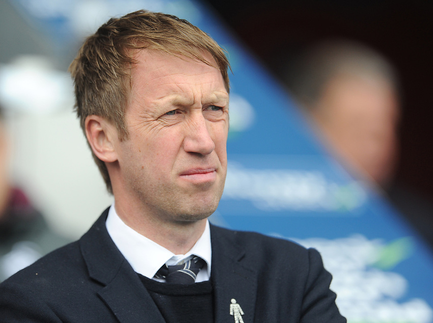 Swansea City manager Graham Potter <br /> <br /> Photographer Kevin Barnes/CameraSport<br /> <br /> The EFL Sky Bet Championship - Blackburn Rovers v Swansea City - Sunday 5th May 2019 - Ewood Park - Blackburn<br /> <br /> World Copyright © 2019 CameraSport. All rights reserved. 43 Linden Ave. Countesthorpe. Leicester. England. LE8 5PG - Tel: +44 (0) 116 277 4147 - admin@camerasport.com - www.camerasport.com
