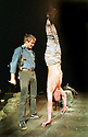 David Wilmot,Conor Maloney in The Lieutenant of Inishmore by Martin McDonagh RSC opens at the Other Place on11/5/01  pic Geraint Lewis