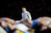 Dan Bowden of Bath Rugby watches a scrum. Aviva Premiership match, between Harlequins and Bath Rugby on November 27, 2016 at the Twickenham Stoop in London, England. Photo by: Patrick Khachfe / Onside Images