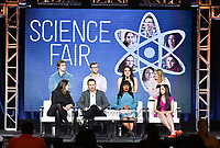PASADENA, CA - FEBRUARY 10:  Ryan Folz, Abraham Riedel-Mishaan, Myllena Braz Da Silva, Cristina Costantini, Darren Foster, Dr. Serena McCalla and Anjali Chadha attends the Science Fair panel at the 2019 National Geographic portion of the Television Critics Association Winter Press Tour at The Langham Huntington Hotel on February 10, 2019 in Pasadena, California. (Photo by Vince Bucci/National Geographic/PictureGroup)