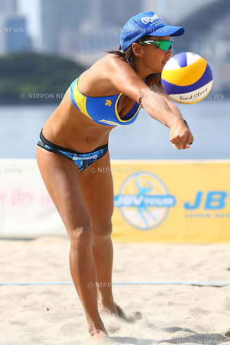 Shinako Tanaka,<br /> SEPTEMBER 21, 2015 - Beach Volleyball : <br /> JBV Tour 2015 Tokyo Open<br /> Women's Final<br /> at Odaiba Beach, Tokyo, Japan.<br /> (Photo by Shingo Ito/AFLO SPORT)