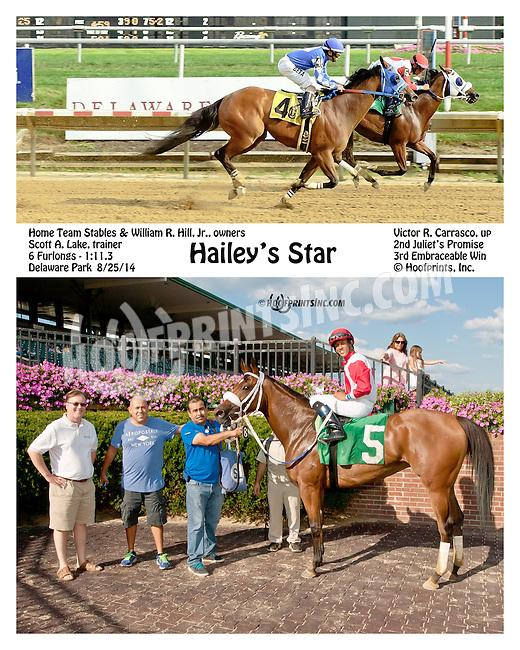 Hailey's Star winning at Delaware Park on 8/25/14