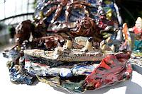 Robert Rapson, Art Deco Brolly Holder, Shapeshifter 2014, Civic Gardens, Lower Hutt, Wellington, New Zealand on Sunday 2 March2014.<br /> Photo by Masanori Udagawa.<br /> www.photowellington.photoshelter.com.