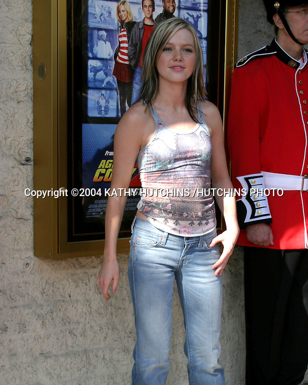 ©2004 KATHY HUTCHINS /HUTCHINS PHOTOPaley .PREMIERE OF AGENT CODY BANKS: DESTINATION LONDON.WESTWOOD, CA.MARCH 6, 2004..HANNAH SPEARRITT