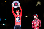 Christopher Froome (GBR) Team Sky wins the overall classification of La Vuelta, pictured on the podium with the trophy at the end of the final Stage 21 of the 2017 La Vuelta, running 117.6km from Arroyomolinos to Madrid, Spain. 10th September 2017.<br /> Picture: Unipublic/&copy;photogomezsport | Cyclefile<br /> <br /> <br /> All photos usage must carry mandatory copyright credit (&copy; Cyclefile | Unipublic/&copy;photogomezsport)