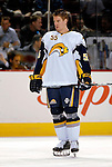 31 March 2007: Buffalo Sabres center Jochen Hecht from Germany warms up prior to facing the Montreal Canadiens at the Bell Centre in Montreal, Canada...Mandatory Photo Credit: Ed Wolfstein Photo *** Editorial Sales through Icon Sports Media *** www.iconsportsmedia.com