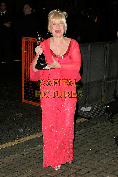 BARBARA WINDSOR (winner Most Popular Serial Drama Award).The National Television Awards afterparty, London, England..October 31st, 2007.TV NTA full length red pink sheer trophy award mouth open funny face.CAP/AH.© Adam Houghton/Capital Pictures