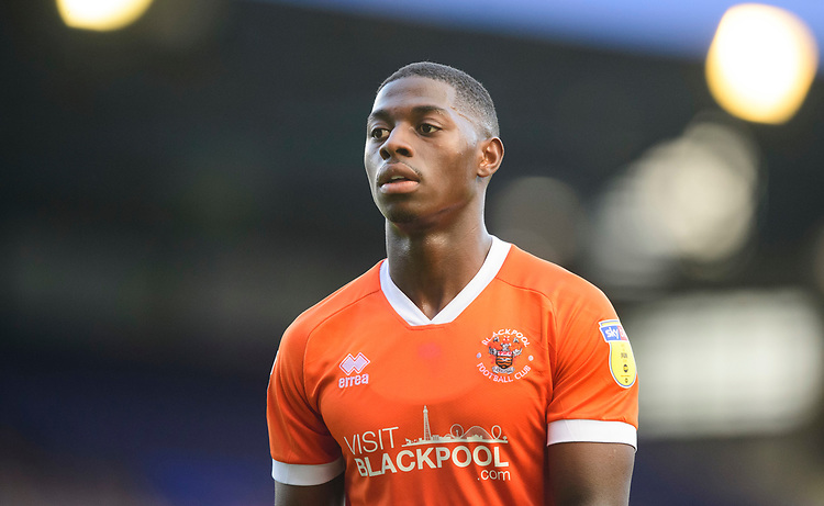 Blackpool's Sullay Kaikai<br /> <br /> Photographer Chris Vaughan/CameraSport<br /> <br /> The EFL Sky Bet League One - Coventry City v Blackpool - Saturday 7th September 2019 - St Andrew's - Birmingham<br /> <br /> World Copyright © 2019 CameraSport. All rights reserved. 43 Linden Ave. Countesthorpe. Leicester. England. LE8 5PG - Tel: +44 (0) 116 277 4147 - admin@camerasport.com - www.camerasport.com