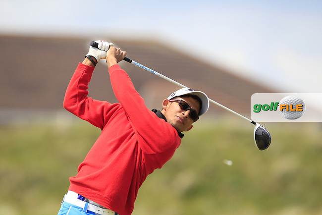 Kartik Sharma (IND) on the 5th tee during Round 1 of the The Amateur Championship 2019 at The Island Golf Club, Co. Dublin on Monday 17th June 2019.<br /> Picture:  Thos Caffrey / Golffile<br /> <br /> All photo usage must carry mandatory copyright credit (© Golffile   Thos Caffrey)