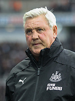 Newcastle United manager Steve Bruce during the Premier League match between Newcastle United and Manchester United at St. James's Park, Newcastle, England on 6 October 2019. Photo by J GILL / PRiME Media Images.