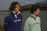 PUTNEY, LONDON, ENGLAND, 06.03.2006, 2006 University Presidents left, Oxford Barney Williams and Cambridges Tom Edwards, 2006 Presidents Challenge and Boat Race Crew announcement   © Peter Spurrier/Intersport-images.com.[Mandatory Credit Peter Spurrier/ Intersport Images] Varsity Boat Race, Rowing Course: River Thames, Championship course, Putney to Mortlake 4.25 Miles