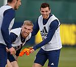 09.10.2018 Scotland training, Oriam: Oli McBurnie and Andy Robertson