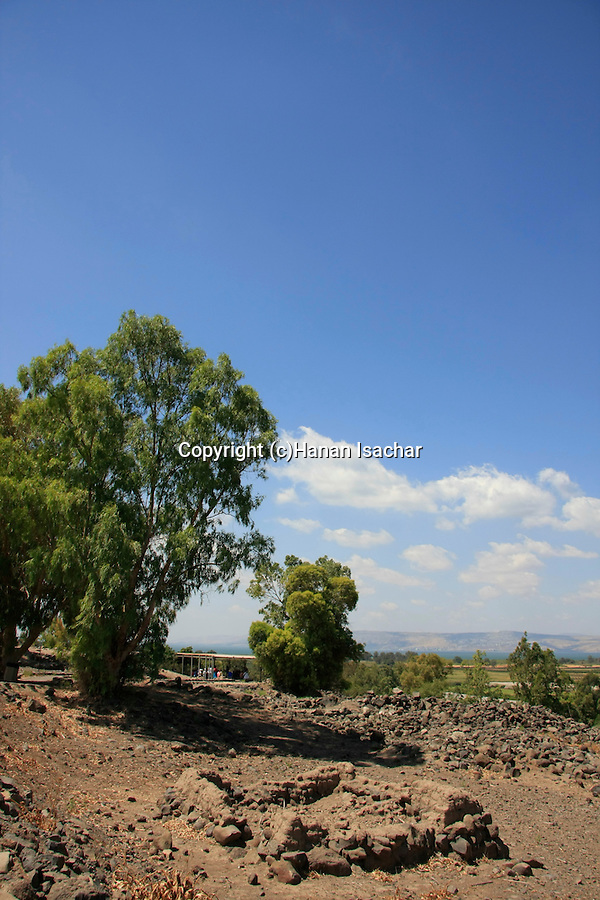 Israel, Et-Tell identified with ancient Bethsaida overlooking the Sea of Galilee
