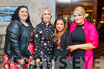 Paula O'Sullivan, Karen O'Sullivan, Cindy Moriarty and Michelle Corr (all from Ballyheigue), enjoying the Kerry Badminton Social held The Rose Hotel, Tralee on Saturday last.