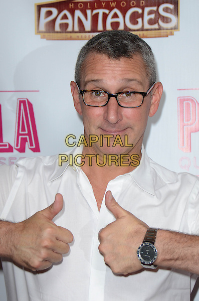 Adam Shankman<br /> Tony Award-Winning Broadway Musical 'Priscilla Queen Of The Desert&quot; celebrates its L.A. Premiere at Pantages Theatre, Hollywood, California, USA.<br /> May 29th, 2013<br /> half length white shirt glasses hands thumbs up <br /> CAP/ADM/TW<br /> &copy;Tonya Wise/AdMedia/Capital Pictures