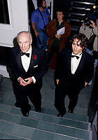 Pierre Eliott Trudeau (R) and his son Justin (L) <br />
