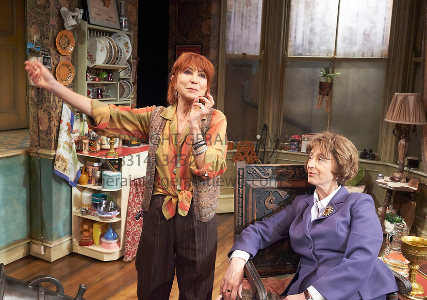 Lettice and Lovage by Peter Shaffer, directed by Trevor Nunn. With Felicity Kendal as Lettice Douffet, Maureen Lipman as Lotte Schoen. Opens at The Mernier Chocolate Factory Theatre on 17/5/17.