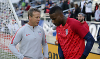 Cary, N.C. - Tuesday March 27, 2018: John Hackworth, Bill Hamid during an International friendly game between the men's national teams of the United States (USA) and Paraguay (PAR) at Sahlen's Stadium at WakeMed Soccer Park.