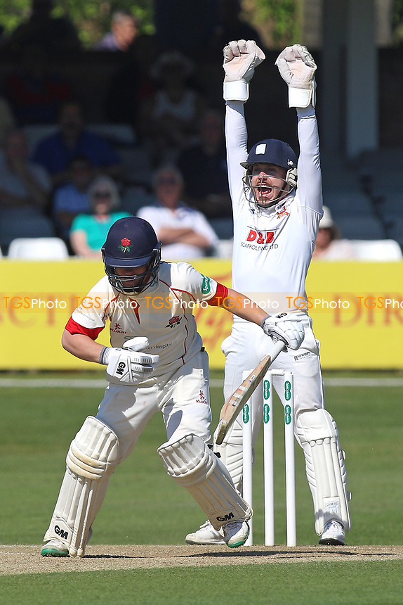 Adam Wheater of Essex with an appeal for the wicket of Alex Davies during Essex CCC vs Lancashire CCC, Specsavers County Championship Division 1 Cricket at The Cloudfm County Ground on 9th April 2017