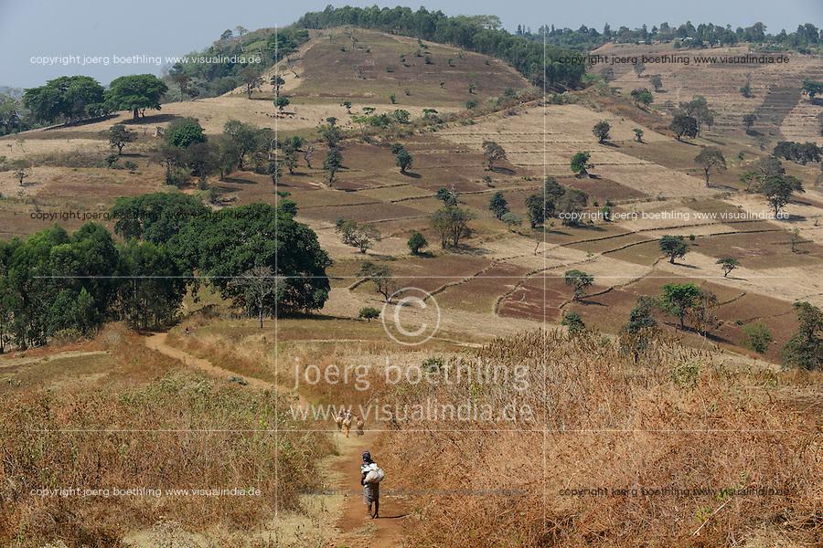ETHIOPIA Gambela, small scale farming in highland / AETHIOPIEN Gambela, kleinbaeuerliche Landwirtschaft im Hochland