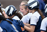 NWA Democrat-Gazette/CHARLIE KAIJO Rogers Heritage High School players react after a score during the 6A State Softball Tournament, Thursday, May 9, 2019 at Tiger Athletic Complex at Bentonville High School in Bentonville. Rogers Heritage High School lost to Northside High School 8-6