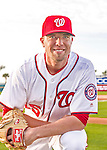 28 February 2016: Washington Nationals pitcher Blake Treinen poses for his Spring Training Photo-Day portrait at Space Coast Stadium in Viera, Florida. Mandatory Credit: Ed Wolfstein Photo *** RAW (NEF) Image File Available ***