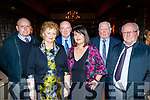 L-R James Hayes, Mary Griffin, Jerry Dwyre, Bernie Hayes, Maurice Dowling and Maurice Murphy at the Lee Strand social last Saturday night in the Ballygarry House hotel, Tralee.