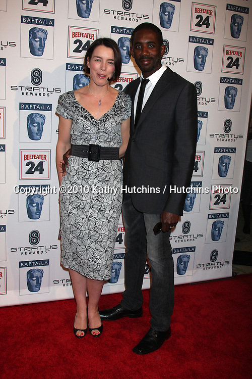 Olivia Williams & Husband Rhashan Stone .arriving at the BAFTA/LA Awards Season Tea Party 2010.Beverly Hills Hotel.Beverly Hills, CA.January 16, 2010.©2010 Kathy Hutchins / Hutchins Photo....