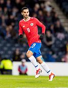 23rd March 2018, Hampden Park, Glasgow, Scotland; International Football Friendly, Scotland versus Costa Rica; Yendrick Ruiz of Costa Rica  in action