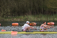 Caversham. Berkshire. UK<br /> Men's pair, Timothy CLARKE and Thomas FORD competing at the  2016 GBRowing U23 Trials at the GBRowing Training base near Reading, Berkshire.<br /> <br /> Monday  11/04/2016 <br /> <br /> [Mandatory Credit; Peter SPURRIER/Intersport-images]