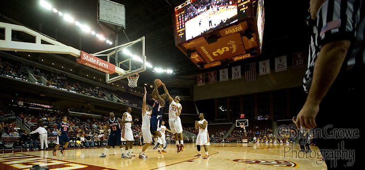 11/24/10, Fullerton Ca.; The Titans travel to Galen center to face the USC Trojans.