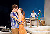 Sunset at the Villa Thalia <br /> by Alexi Kaye Campbell<br /> at Dorfman Theatre, National Theatre, Southbank, London, Great Britain <br /> <br /> 31st May 2016 <br /> press photocall <br />  <br /> <br /> directed by Simon Godwin<br />  <br /> <br /> <br /> Sam Crane as Theo <br /> <br /> Elizabeth McGovern as June <br /> <br /> Ben Miles as Harvey <br /> <br /> Pippa Nixon as Charlotte <br /> <br />  <br /> <br /> Photograph by Elliott Franks <br /> Image licensed to Elliott Franks Photography Services
