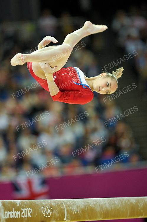 Olympics London 2012. Gymnastics Womens Qualifications 29.7.12. Greenwich Arena. Victoria Komova
