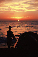 Sunset at Quriyat beach, Oman