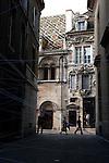 20050519 - France - Dijon<br /> REPORTAGE SUR LA VILLE DE DIJON : LA RUE DE LA PORTE AUX LIONS ET AU FOND LA RUE DES FORGES<br /> Ref: DIJON_001-148 - © Philippe Noisette