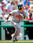 4 July 2009: Atlanta Braves' center fielder Nate McLouth in action against the Washington Nationals at Nationals Park in Washington, DC. The Nationals defeated the Braves 5-3 to take the second game of the 3-game weekend series. Mandatory Credit: Ed Wolfstein Photo