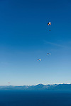 Paragliding over Lake Tahoe, California