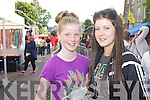 Pictured queuing for the Union J concert at Denny Street on Friday were: Niamh and Laura Fitzgerald (Tipperary).