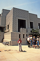 Frank Lloyd Wright: Ennis-Brown House, Los Angeles. Textile block, Mayan influence. Famous film location.NRHP 1971.