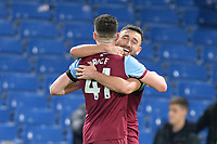 Robert Snodgrass of West Ham United and Declan Rice of West Ham United At the Final Whistle Applause Fan's during Chelsea vs West Ham United, Premier League Football at Stamford Bridge on 30th November 2019