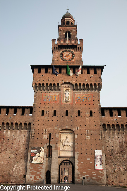 Sfozesco Castle in Milan, Italy